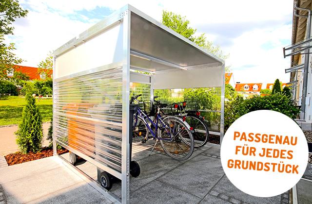 sinomak bikeports fahrradgarage nach ma. Black Bedroom Furniture Sets. Home Design Ideas